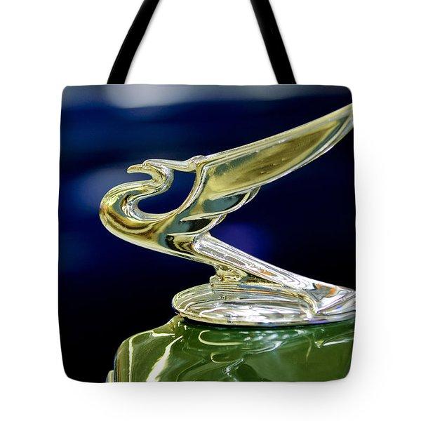 1935 Chevrolet Hood Ornament Tote Bag by Jill Reger