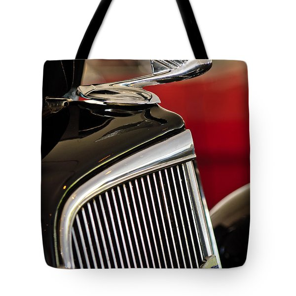 1935 Chevrolet Optional Eagle Hood Ornament Tote Bag by Jill Reger