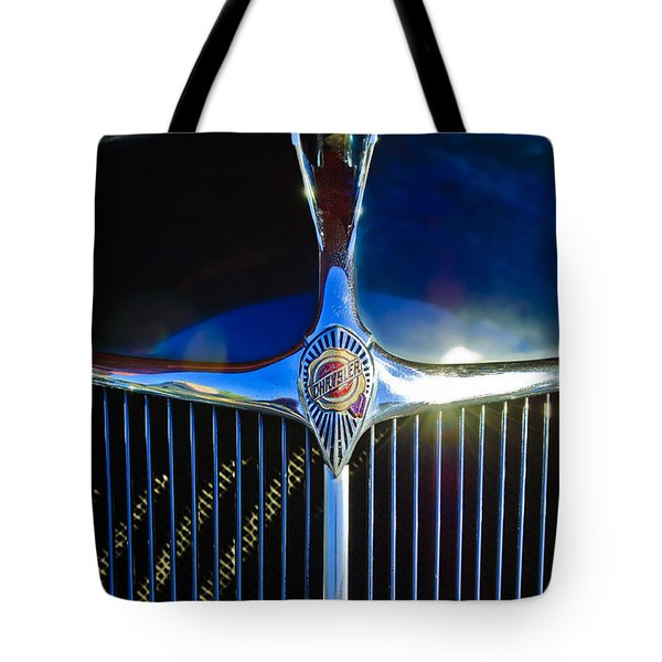 1935 Chrysler Hood Ornament 2 Tote Bag by Jill Reger