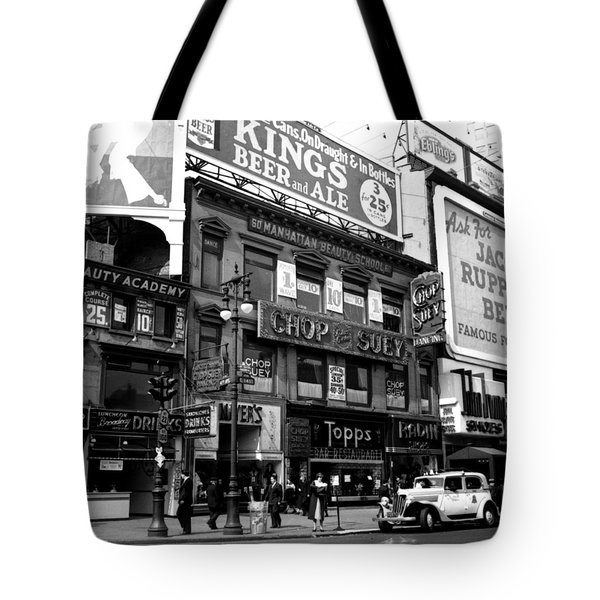 1935 Union Square Shops New York City Tote Bag by Historic Image