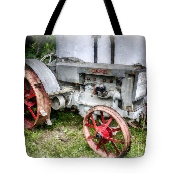1935 Vintage Case Tractor Tote Bag