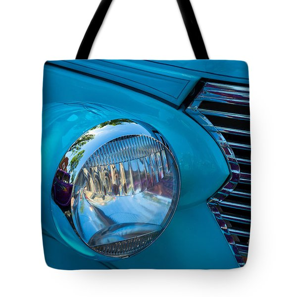 1936 Chevy Coupe Headlight And Grill Tote Bag