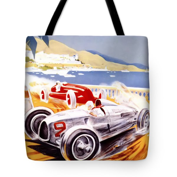 1936 F1 Monaco Grand Prix  Tote Bag