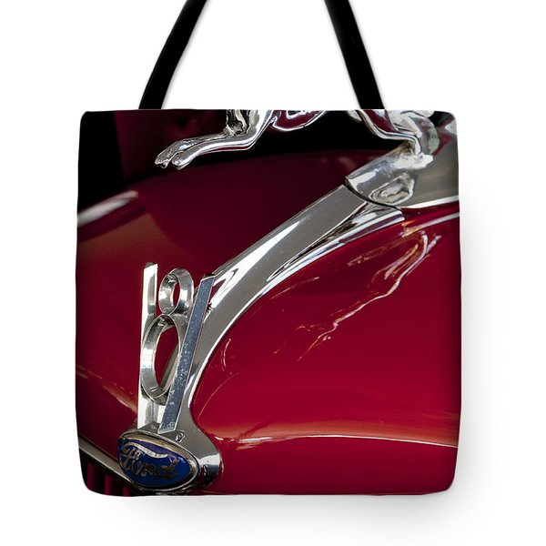 1936 Ford 68 Pickup Hood Ornament Tote Bag by Jill Reger