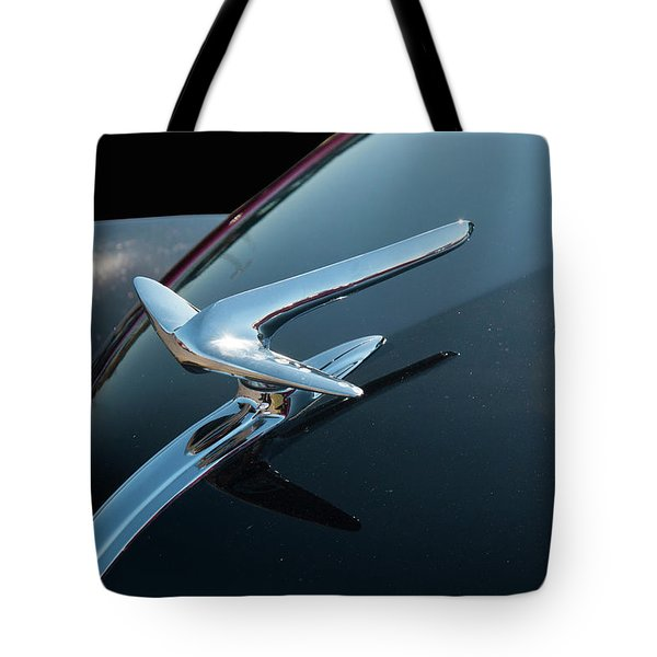 Tote Bag featuring the photograph 1936 Lincoln Hood Ornaments by Chris Flees