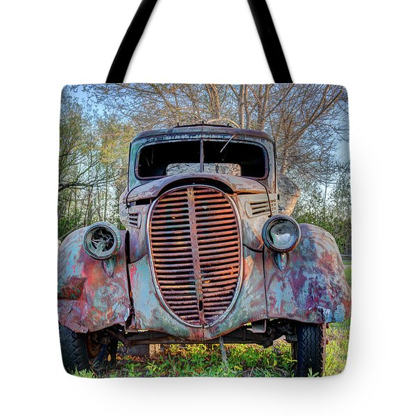 1936 Model 511 1/2 Ton Stakebed Farm Truck Near Charlevoix, Mic Tote Bag by Peter Ciro
