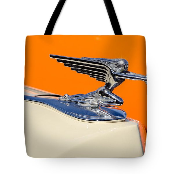 Tote Bag featuring the photograph 1936 Packard Hood Ornament by Aloha Art