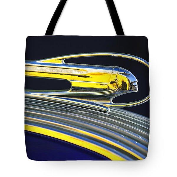 1936 Pontiac Hood Ornament Tote Bag by Jill Reger