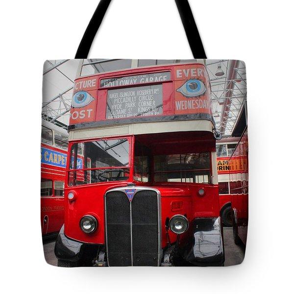 1937 Aec Regent I Bus Stl2377 Tote Bag