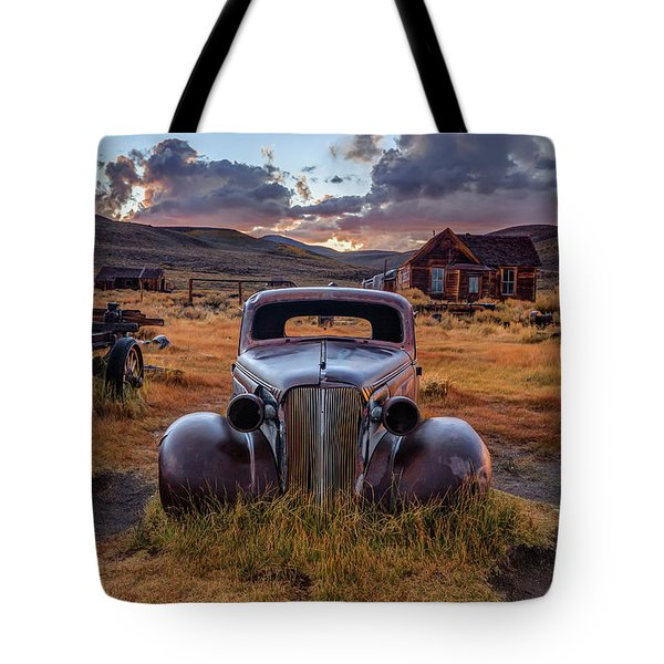1937 Chevy At Sunset Tote Bag