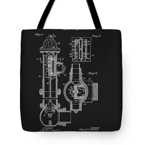 1937 Fire Hydrant Patent Tote Bag