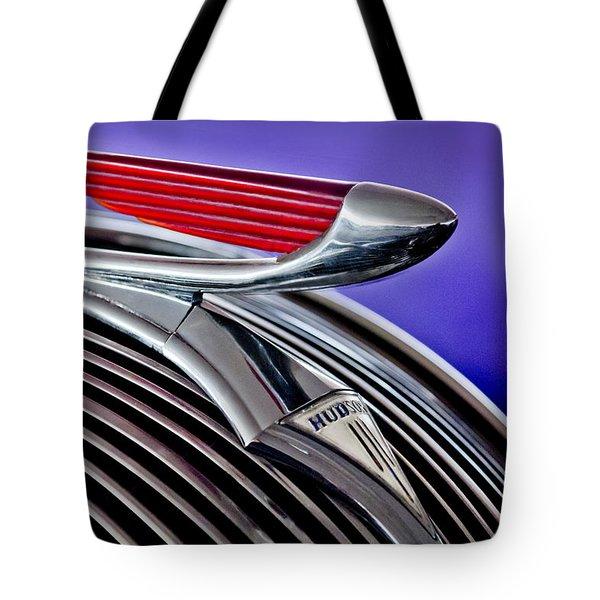 1937 Hudson Terraplane Sedan Hood Ornament 2 Tote Bag by Jill Reger