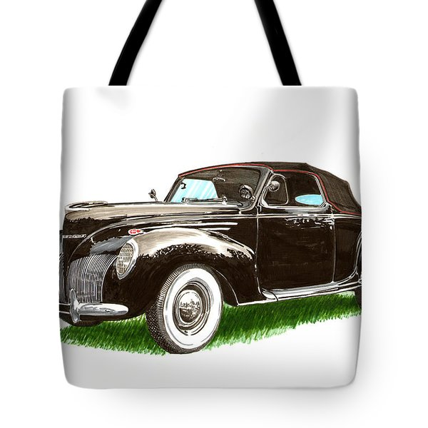 1937 Lincoln Zephyer Tote Bag by Jack Pumphrey