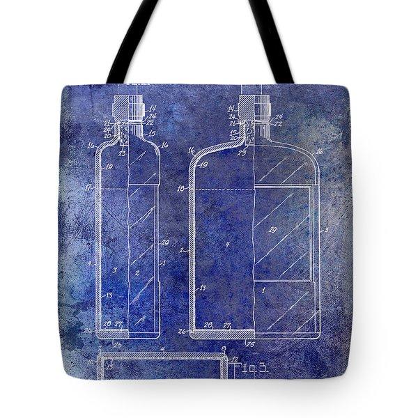 1937 Liquor Bottle Patent Blue Tote Bag