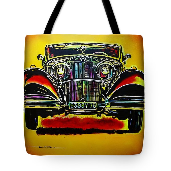 1937 Mercedes Benz First Wheel Down Tote Bag