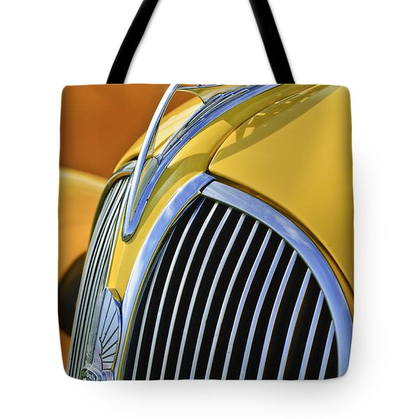 1937 Plymouth Hood Ornament 2 Tote Bag by Jill Reger
