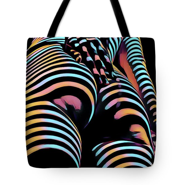 1937s-ak Sliding Her Hand Down Her Naked Back Rendered In Composition Style Tote Bag