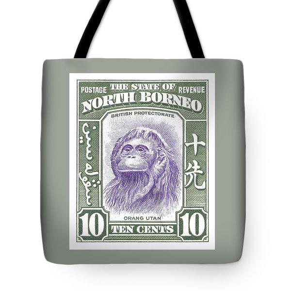 1939 North Borneo Orangutan Stamp Tote Bag
