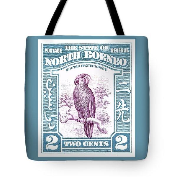1939 North Borneo Palm Cockatoo Postage Stamp Tote Bag