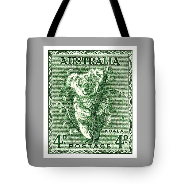 1940 Australia Koala Postage Stamp Tote Bag