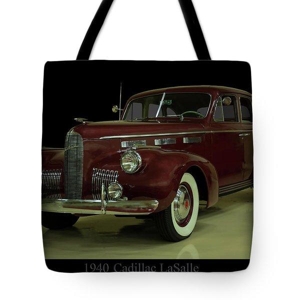 1940 Cadillac Lasalle Tote Bag