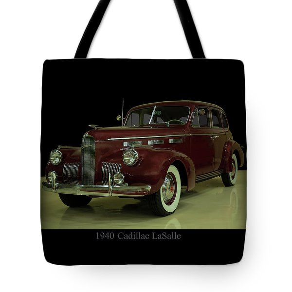 Tote Bag featuring the photograph 1940 Cadillac Lasalle by Chris Flees