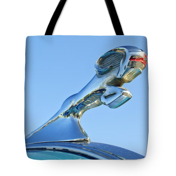1940 Dodge Business Coupe Hood Ornament Tote Bag by Jill Reger