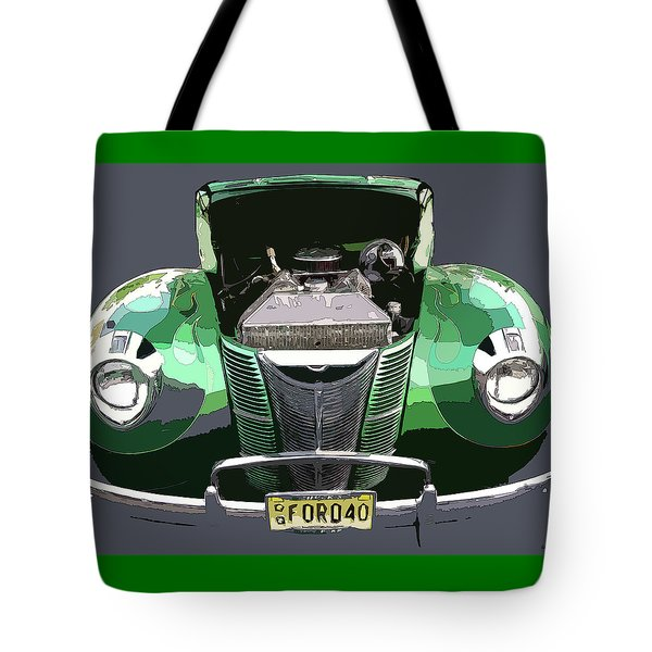 Tote Bag featuring the photograph 1940 Ford by JoAnn Lense