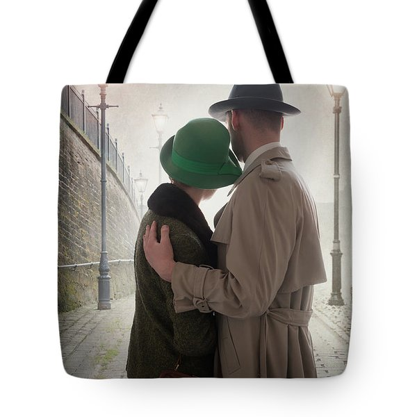 1940s Couple At Dusk  Tote Bag