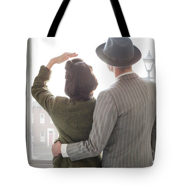 1940s Couple At The Window Tote Bag