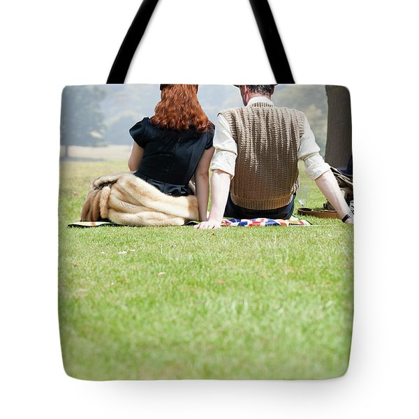 1940s Couple Sitting In The Sunshine Tote Bag