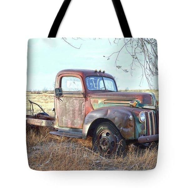 1940s Ford Farm Truck Tote Bag