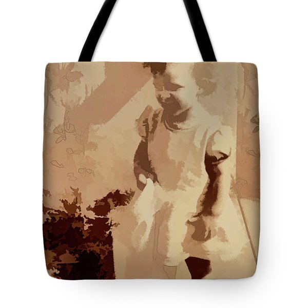 Tote Bag featuring the photograph 1940s Little Girl by Linda Phelps