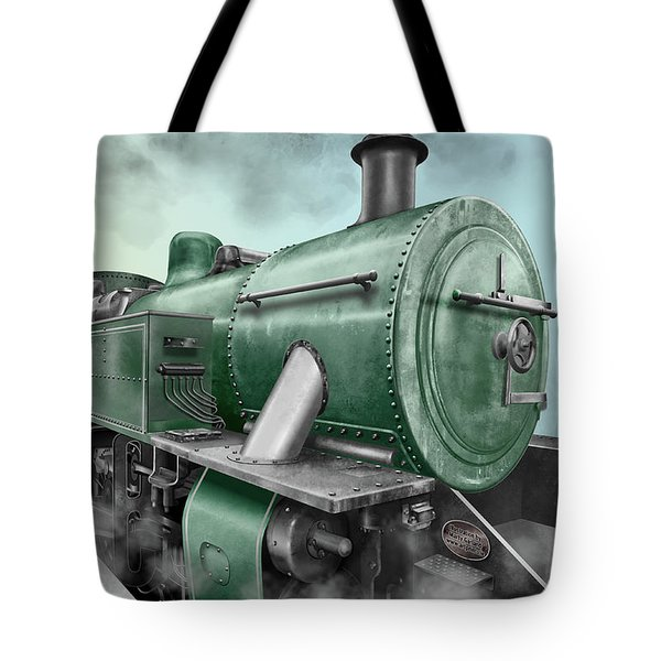 1940's Steam Train Tote Bag by Marty Garland