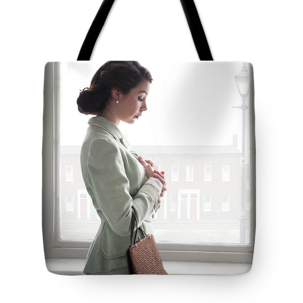 1940s Woman At The Window Tote Bag by Lee Avison