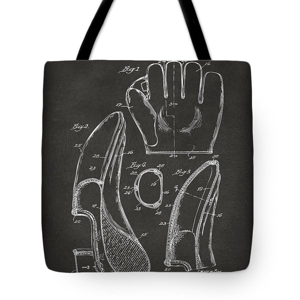 1941 Baseball Glove Patent - Gray Tote Bag