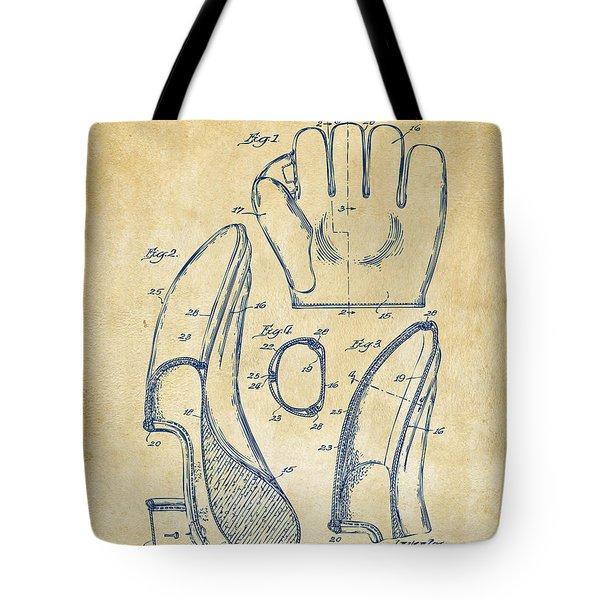 1941 Baseball Glove Patent - Vintage Tote Bag