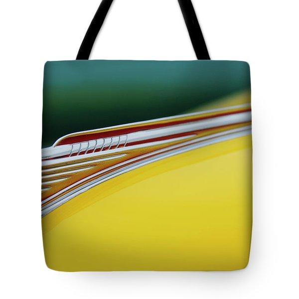 1941 Chevrolet Sedan Hood Ornament Tote Bag by Jill Reger