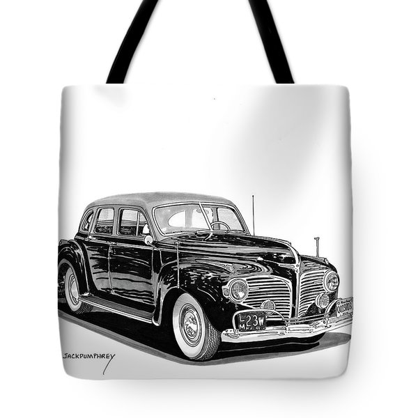 Tote Bag featuring the painting 1941 Dodge Town Sedan by Jack Pumphrey