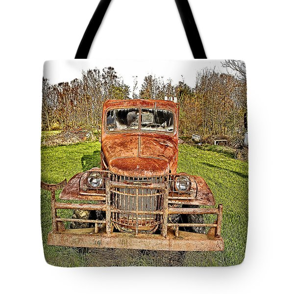 1941 Dodge Truck 3 Tote Bag by Mark Allen