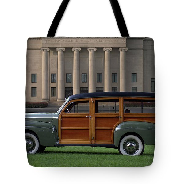 1941 Ford Super Deluxe Country Squire Woody Station Wagon Tote Bag