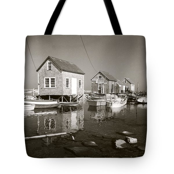 Tote Bag featuring the photograph 1941 Lobster Shacks, Martha's Vineyard by Historic Image
