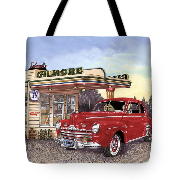 1946 Ford Deluxe Coupe Tote Bag by Jack Pumphrey
