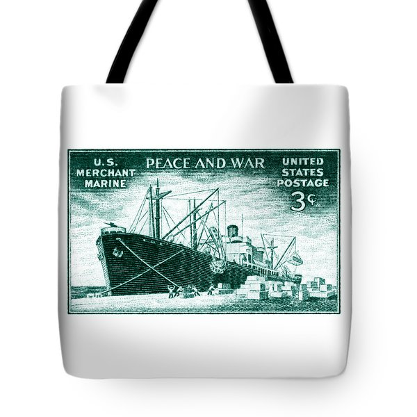 1946 Merchant Marine Stamp Tote Bag
