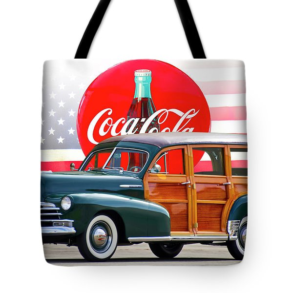 1947 Chevrolet Fleetmaster Woody Wagon II Tote Bag