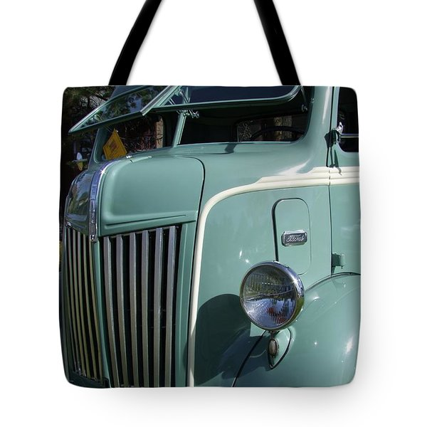 1947 Ford Cab Over Truck Tote Bag by Mary Deal