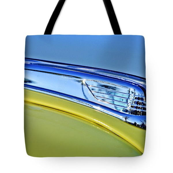 1947 Ford Super Deluxe Hood Ornament 2 Tote Bag by Jill Reger