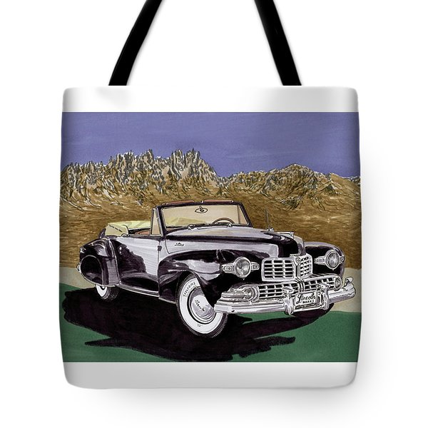 1947 Lincoln Continental Mk I Tote Bag by Jack Pumphrey