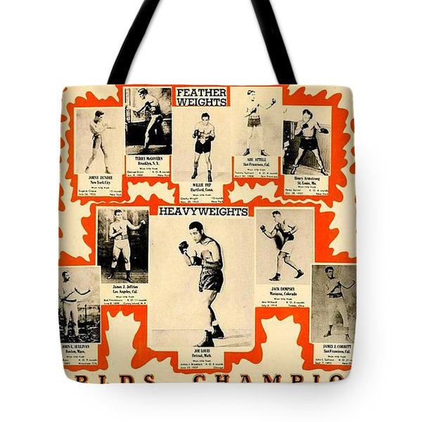 1947 World Champions And Past Greats Of The Prize Ring Tote Bag
