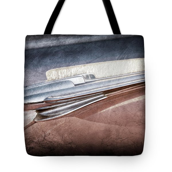 Tote Bag featuring the photograph 1948 Chevrolet Hood Ornament -0587ac by Jill Reger